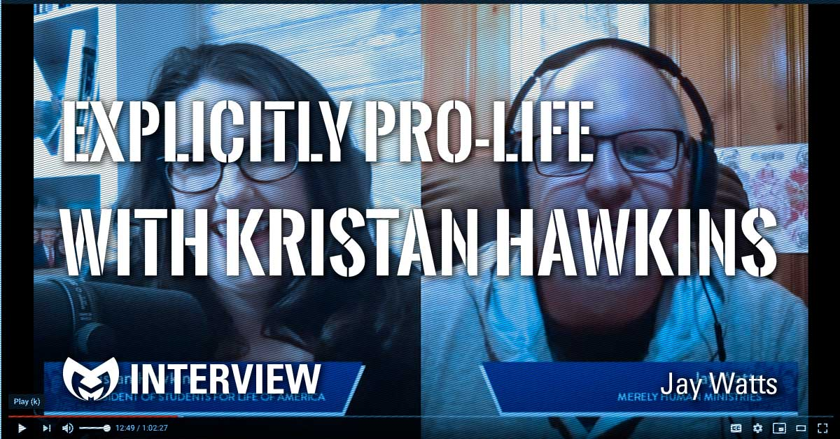 Screen shot of Jay Watts and Kristan Hawkins in a video interview.