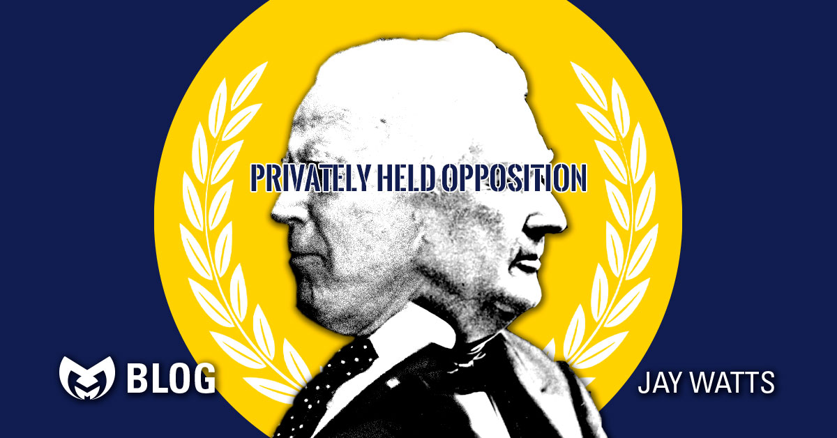 "Joe Biden and Millard Fillmore with text saying ""Privately Held Opposition"""